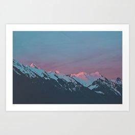 A Swiss Sunset Art Print
