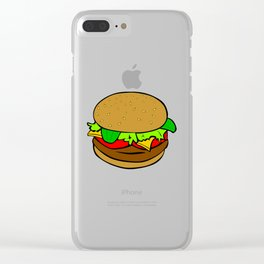 BURGER STYLE Clear iPhone Case