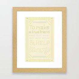 Advice for David Framed Art Print