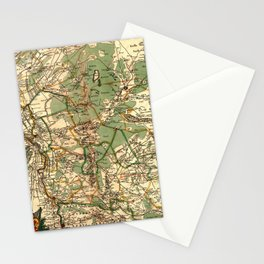 Map Of Holland 1658 Stationery Cards