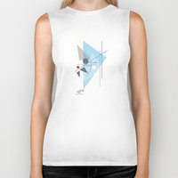 kandinsky Biker Tanks featuring Everything Starts with a Dot by Amy Newhouse