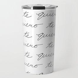 """I Love You"" in Spanish Travel Mug"