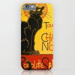 Le Chat Noir The Black Cat Art Nouveau Vintage iPhone Case