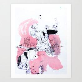 claim then deny Art Print