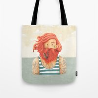 hair Tote Bags featuring Octopus by Seaside Spirit