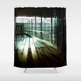 Boarding shadows Shower Curtain