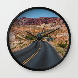 Valley of Fire - Nevada USA Wall Clock