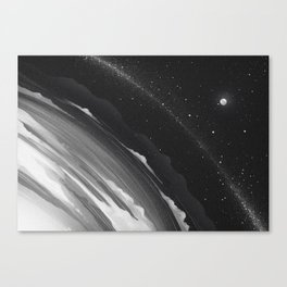 Planets lost in the vast of Space: 06 Canvas Print