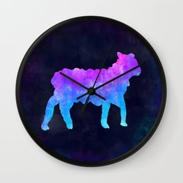 LAMB IN SPACE // Animal Graphic Art // Watercolor Canvas Painting // Modern Minimal Cute Wall Clock