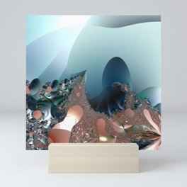 Hiding in a Fantasy Waterworld -- Fractal art by Twigisle at Society6 Mini Art Print