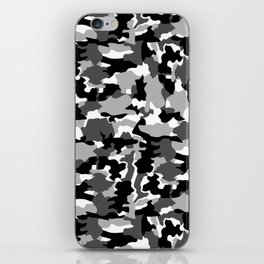 black and white Background Pattern Camo iPhone Skin