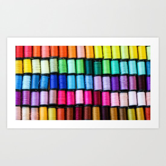 Cotton Reels Art Print