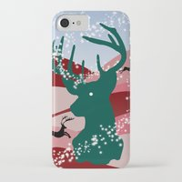 merry christmas iPhone & iPod Cases featuring merry christmas by mark ashkenazi