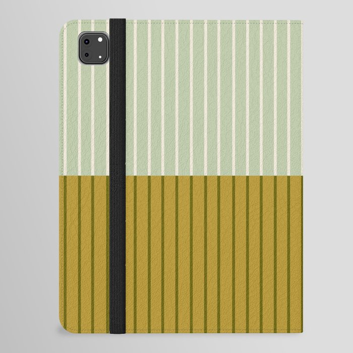 Color Block Lines XXI Moss iPad Folio Case