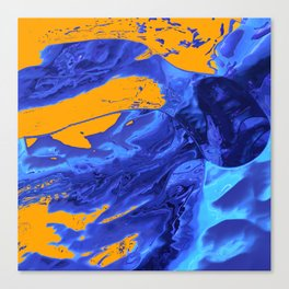 Splashy Diving Canvas Print