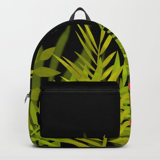 The leaves and berries. Backpack