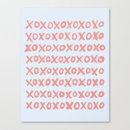 Tic Tac Toe (XOXO) Canvas Print