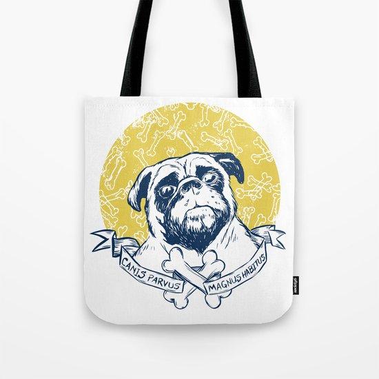 Pug : Small dog, big attitude. Tote Bag