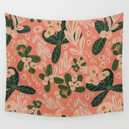 Poppy Pine (pink) Wall Tapestry