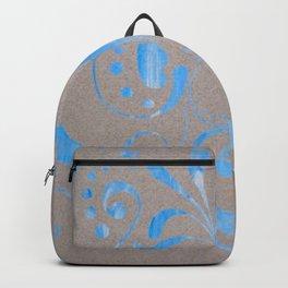 marbled design Backpack