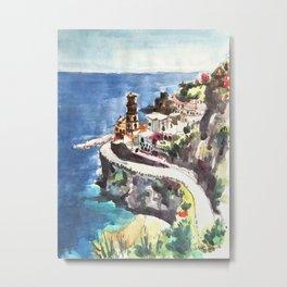 Amalfi Coast Positano Italy Metal Print