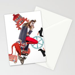 Red Flamingo Trends by Lenka Laskoradova Stationery Cards