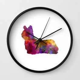 Sky Terrier 01 in watercolor Wall Clock