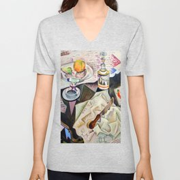 Joan Miro Spanish Playing Cards Unisex V-Neck