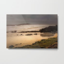 Stormy Day At Gallows Beach Metal Print