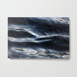 Sea Water Surface Texture 1 Metal Print