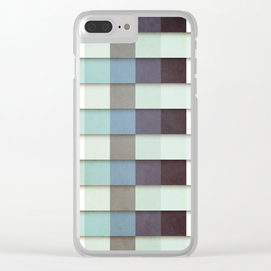 Geometric Grunge Graphic Clear iPhone Case