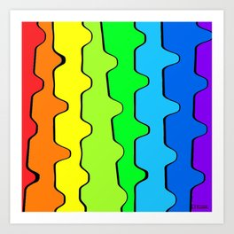 Skewed Rainbow Art Print