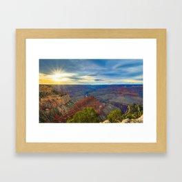 Grand Canyon Sunset from Hopi Point Framed Art Print