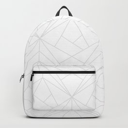 Geometric White Gray Modern Pattern  Backpack
