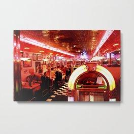 Mel's Diner Metal Print
