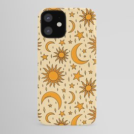 Vintage Sun and Star Print iPhone Case