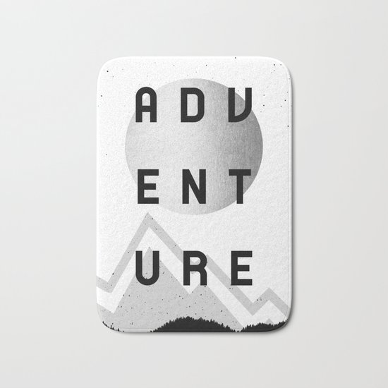 Adventure Silver Sunrise Bath Mat