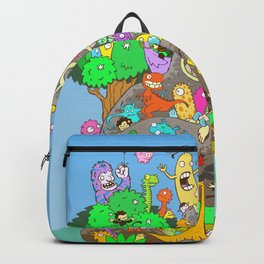 It's a small world full of assorted critters Backpack