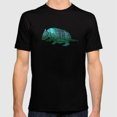 Watercolor Armadillo Mens Fitted Tee Black X-LARGE