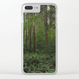 Undergrowth in the Fraser Valley Rainforest Clear iPhone Case