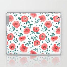 Watercolor poppy flowers Laptop & iPad Skin