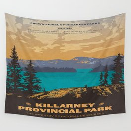 Vintage poster - Killarney Provincal Park, Canada Wall Tapestry