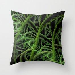Fractal Art - Jungle Throw Pillow
