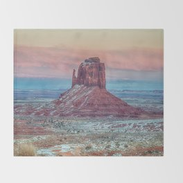 MONUMENT VALLEY AT SUNSET Throw Blanket