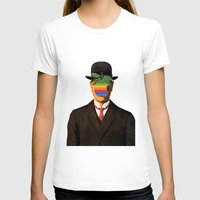 magritte T-shirts featuring Son of Apple Parody René Magritte by eatpersonality