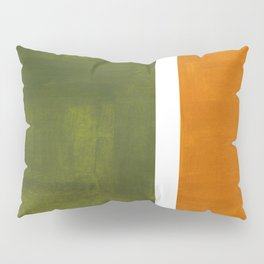 Olive Green Yellow Ochre Minimalist Abstract Colorful Midcentury Pop Art Rothko Color Field Pillow Sham