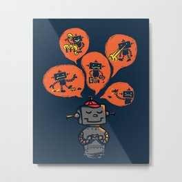 When I grow up - an evil robot dream Metal Print