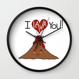 I Lava You! Wall Clock