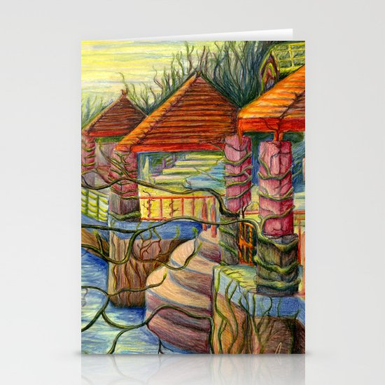 Pulling You In - Colored Pencil Drawing Stationery Cards