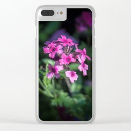 Morning Verbena Clear iPhone Case